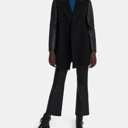 Clairene Jacket in Double-Face Wool-Cashmere Combo   Theory Outlet