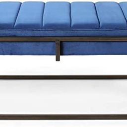 Great Deal Furniture Vassy Glam Velvet Ottoman Bench, Navy Blue | Amazon (US)