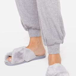 Womens Not Ready Fur Today Faux Fur Slippers - Grey   NastyGal (US & CA)