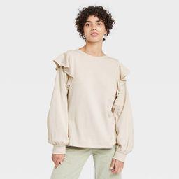 Women's Ruffle Sweatshirt - Universal Thread™ | Target