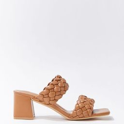 Braided Square-Toe Block Heels   Forever 21 (US)