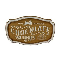 """18"""" Chocolate Bunnies Sign Wall Décor by Ashland® 