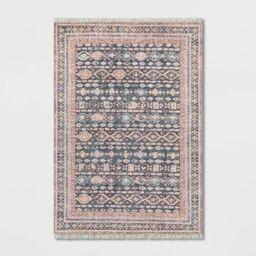 Alexandra Floral Printed Border Persian Rug Blush - Opalhouse™   Target