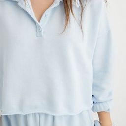 Aerie Fleece-Of-Mind Cropped Polo Sweatshirt | American Eagle Outfitters (US & CA)