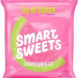 SmartSweets NEW Sourmelon Bites, Candy with Low Sugar (3g), Low Calorie, Plant-Based, Free From S...   Amazon (US)