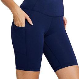 "BALEAF Women's 8"" /5"" High Waist Biker Yoga Workout Running Compression Exercise Shorts Side Pock...   Amazon (US)"