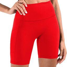 Telamon High Waist Workout Yoga Athletic Shorts for Women Compression Biker Running Short with De...   Amazon (US)