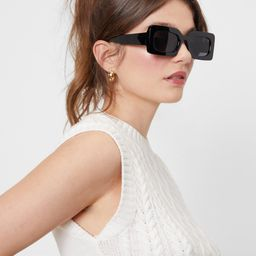 Lay It On Thick Tinted Rectangle Sunglasses | NastyGal (US & CA)