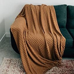 Graced Soft Luxuries Throw Blanket Textured Soft for Sofa Couch Decorative Knitted Acrylic Fringe...   Amazon (US)