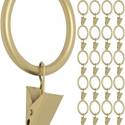 MERIVILLE Drapery Curtain Rings with Clip - 1.5-Inch Inner Diameter, Fits Up to 1 1/4-Inch Rod, S... | Amazon (CA)