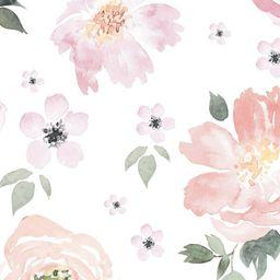 Jolie Floral Wallpaper  Watercolor Wallpaper  Monika Hibbs  | Etsy | Etsy (CAD)
