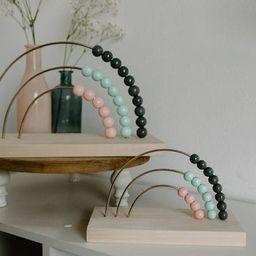 Mint Neutral Rainbow Abacus  Wood Nursery Décor  Baby | Etsy | Etsy (US)