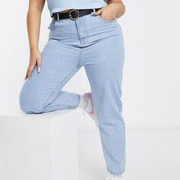 Daisy Street Plus mom jeans in bleach denim   ASOS (Global)