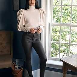 Super High Waisted Black Coated Skinny Jeans | Express