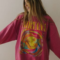 Nirvana Smile Overdyed Sweatshirt | Urban Outfitters (US and RoW)