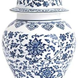 Vintage Blue and White Porcelain Unglazed Jar, Ideal Gift for Weddings, Party, Home Decor, Office... | Amazon (US)