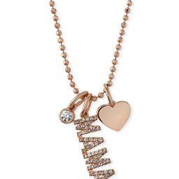 EF Collection 14k Rose Gold Diamond MAMA & Charm Necklace   Bergdorf Goodman