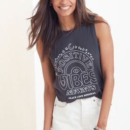Positive Vibes Only Tank   Evereve