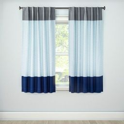 Colorblock Striped Blackout Curtain Panel - Pillowfort™ | Target