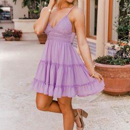 A Romantic Twist Lilac Lace Dress | The Pink Lily Boutique