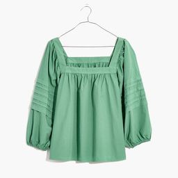 Square-Neck Pleat-Sleeve Top | Madewell