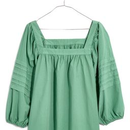 Madewell Square Neck Pleat Sleeve Top | Nordstrom | Nordstrom