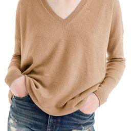 Women's J.crew V-Neck Boyfriend Cashmere Sweater, Size XX-Large - Brown   Nordstrom