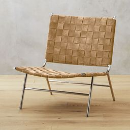 Woven Camel Brown Suede Chair + Reviews | CB2 | CB2