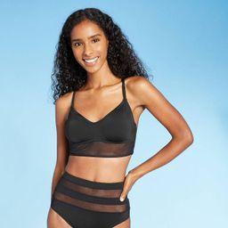 Women's Mesh Longline Bralette Bikini Top - Shade & Shore™   Target