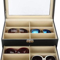 Sunglasses Storage Box,12 Piece Eyeglasses Storage and Sunglass Glasses Display Drawer Lockable C...   Amazon (US)