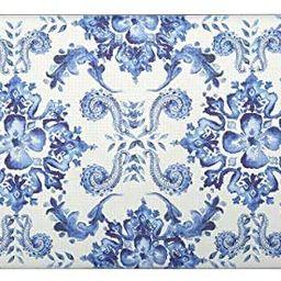 "J&V TEXTILES Oversized 20""x39"" Anti-Fatigue Embossed Floor Mat (Poppy Sketch Tile Blue) | Amazon (US)"