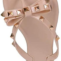 Womens Studded Jelly Flip Flops Sandals with Bow   Amazon (US)