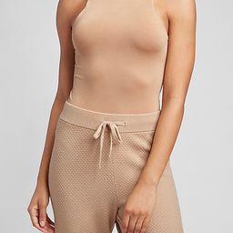 Body Contour Double Layer High Neck Thong Bodysuit   Express