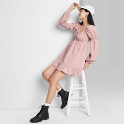 Women's Long Sleeve Milkmaid Dress - Wild Fable™ | Target