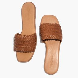 The Lianne Slide in Woven Leather | Madewell