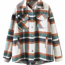 'Hilary' Plaid Oversized Shirt (2 Colors)   Goodnight Macaroon