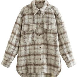'Cindy' Thick Plaid Shirt with Pockets  (2 Colors)   Goodnight Macaroon