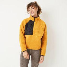 Women's 1/2 Zip Sherpa Pullover Sweatshirt - JoyLab™ | Target