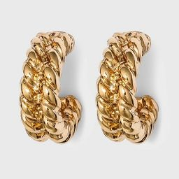 Small Textured Hoop Earrings - A New Day™ Gold | Target