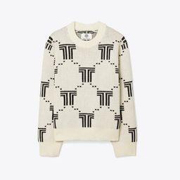 Merino Net-T Jacquard Sweater   Tory Burch (US)