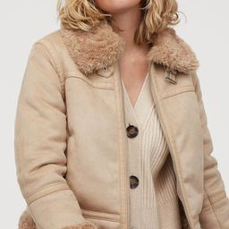 Faux Shearling-lined Jacket   H&M (US)