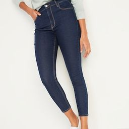 High-Waisted Dark-Wash Super Skinny Ankle Jeans for Women | Old Navy (US)