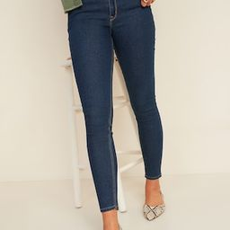 Mid-Rise Dark-Wash Super Skinny Jeans for Women | Old Navy (US)