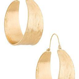 Terrain Hoop Earring in Gold   Revolve Clothing (Global)