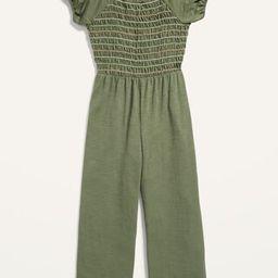 Short-Sleeve Smocked Jumpsuit for Girls   Old Navy (US)