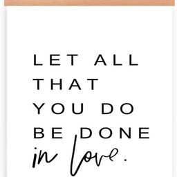 Natural Wood Magnetic Hanger Frame & Canvas Poster-Bible Verse Canvas Wall Art Print Inspirationa... | Amazon (US)