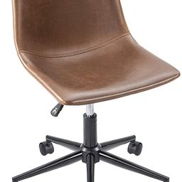 Furmax Mid Back Task Chair PU Leather Adjustable Swivel Office Chair Bucket Seat Armless Computer... | Amazon (US)