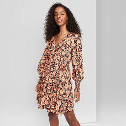 Women's Long Sleeve Wrap Dress - Wild Fable™   Target