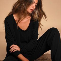 Let's Warm Up Black Lounge Pants | Lulus (US)