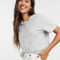 ASOS DESIGN ultimate organic cotton t-shirt with crew neck in grey marl   ASOS (Global)